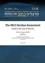 The 2012 Herzliya Assessment
