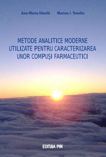 Metode analitice moderne utilizate pentru caracterizarea ... - PIM Copy