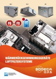 wärmerückgewinnungsgeräte luftfiltersysteme - Sodeca