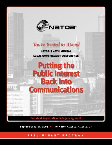 Putting the Public Interest Back Into Communications - NATOA