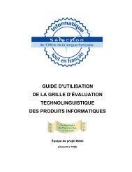 guide - Office québécois de la langue française
