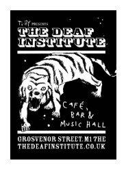 Download Tech Spec - The Deaf Institute