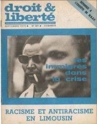 RACISME ET ANTIRACISME EN LIMOUSIN - Archives du MRAP