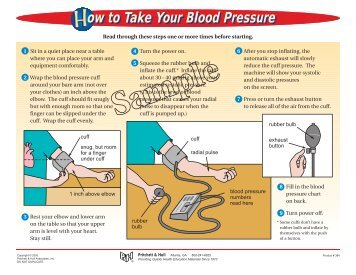 how to take your own blood pressure