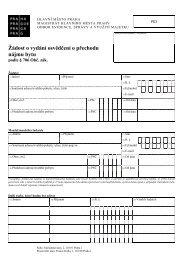 Žádost o vydání osvědčení o přechodu nájmu bytu - Praha.eu