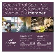 Cocon Thai Spa – der Weg zur Gelassenheit ... - Balance Hotels
