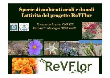 Francesca Bretzel, CNR-ISE di Pisa, Fernando Malorgio, Università ...