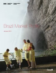 Brazil Market Profile - Canadian Tourism Commission - Canada