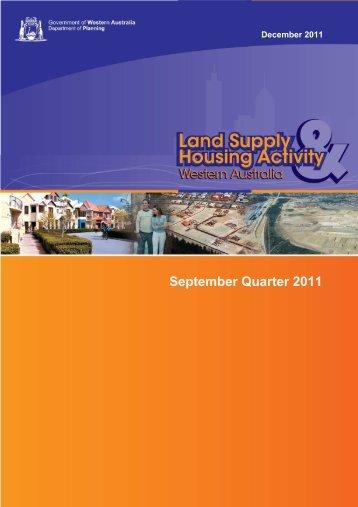 September Quarter 2011 - Western Australian Planning Commission