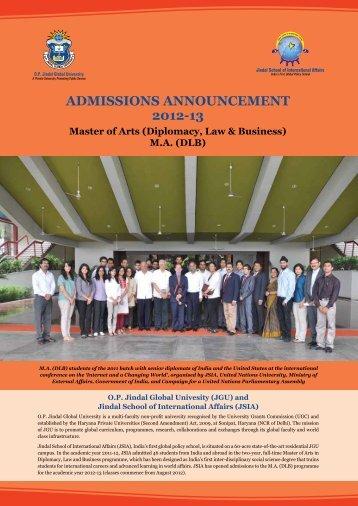 MA (DLB) - OP Jindal Global University