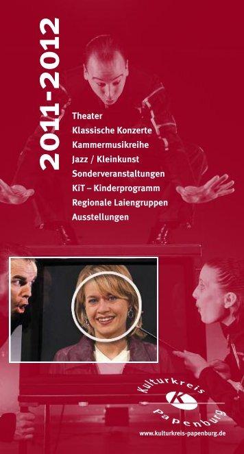 BROSCHÃœRE AKTUELL - Kulturkreis Papenburg