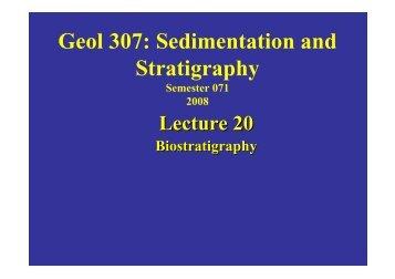 Geol 307: Sedimentation and Stratigraphy - KFUPM Open Courseware