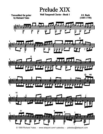 Open Score - Richard Yates Classical Guitar Transcriptions