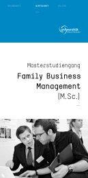 Family Business Management (M.Sc.) - IHK Rhein-Neckar