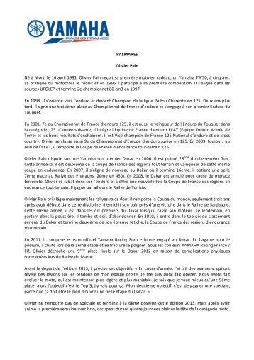 Télécharger document - Yamaha Motor France