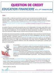 L'éducation financière - Avant-premières
