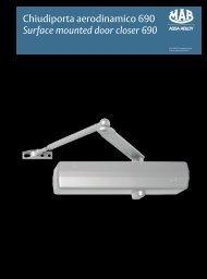 Chiudiporta aerodinamico 690 Surface mounted ... - ASSA ABLOY