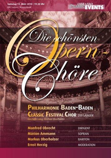 PHILHARMONIE BADENnBADEN - Konzertchor Oberaargau