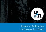 Demolition & Recycling Professional User Guide - B&S Parts Bt