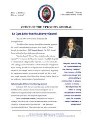 challenges and successes - The Attorney General of Guam