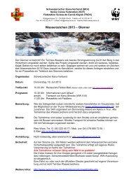 Wasserzeichen 2013 – Glenner - Schweizerischer Kanu-Verband