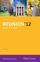 REUNION'12 - Holy Cross Alumni Community