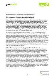 Die neusten Erdgas-Modelle in Genf (10.12.09) - Erdgasfahren