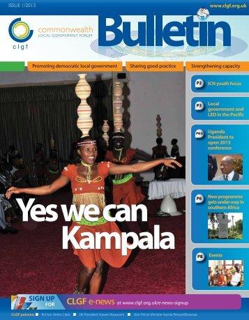 CLGF Bulletin April 2013 - Commonwealth Local Government Forum