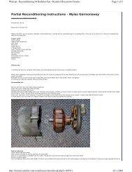 Fan motor reconditioning - Porsche 928