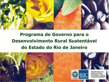 programa de governo - seappa 2009 - Pesagro-Rio