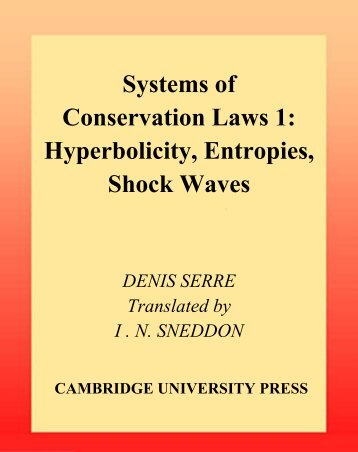 Systems of Conservation Laws 1: Hyperbolicity ... - FENOMEC