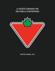 Rapport annuel 2012 - Canadian Tire Corporation