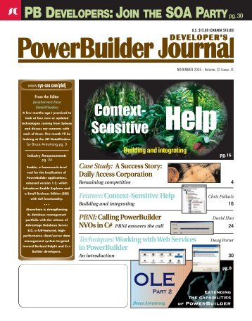 in PowerBuilder - sys-con.com's archive of magazines - SYS-CON ...