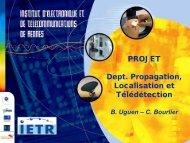 Département Propagation, Localisation et Télédétection - IETR