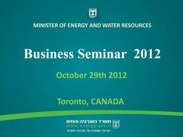 MINISTER OF ENERGY AND WATER RESOURCES - IPC Oil & Gas ...