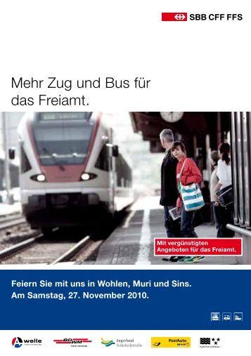 Mehr Zug und Bus für das Freiamt. - Lenzburg
