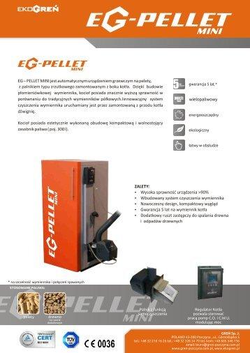 Ulotka informacyjna i dane techniczne kotÃ…Â'a EG-Pellet Mini - Polmark