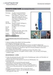 Datenblatt Keramikfilter Katadyn Combi (Pdf) - Wasserhaus