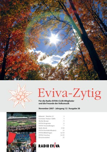 A47837_Eviva-zytig_38.ps, page 1-16 @ Normalize ... - Radio Eviva