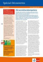 Spécial Découvertes - Ernst Klett Verlag