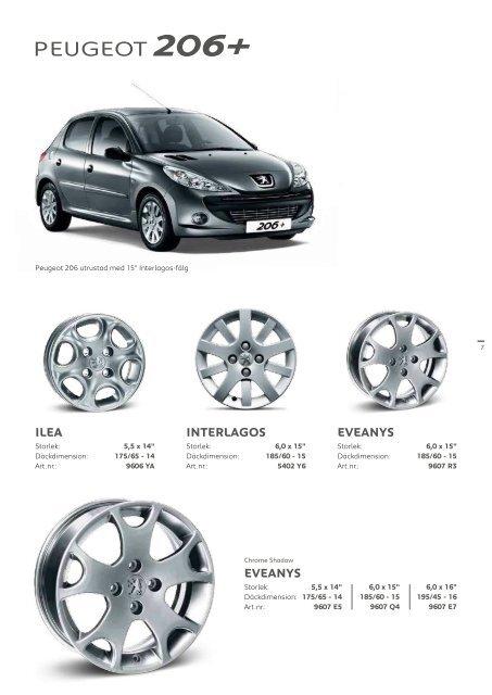 Original Peugeot aluminiumfälgar