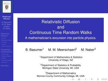 Download seminar material - Department of Mathematics and ...