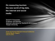 the new world of big data, the internet and social media - Travel ...