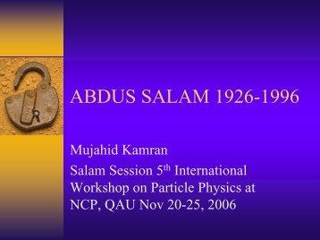ABDUS SALAM 1926-1996