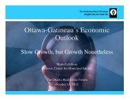 Ottawa-Gatineau's Economic Outlook - Real Estate Forums