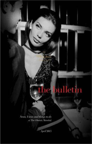 The Bulletin_The Oberoi LowRez - Oberoi Hotels