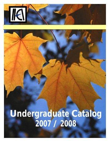 IIEI Undergrad Catalog --- 2007 - 2008 - International Import-Export ...