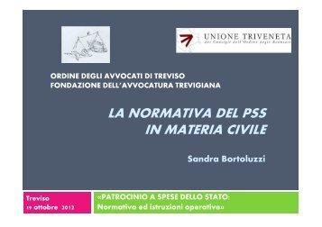 La normativa del PSS in materia civile - Ordine degli Avvocati di ...