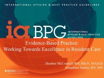 Evidence-Based Practice: Working Towards Excellence in ... - IUPUI