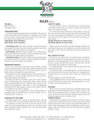 Rules PAgE 1 - Sherwood Ultra Sports